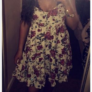 Short Strappy Floral Dress